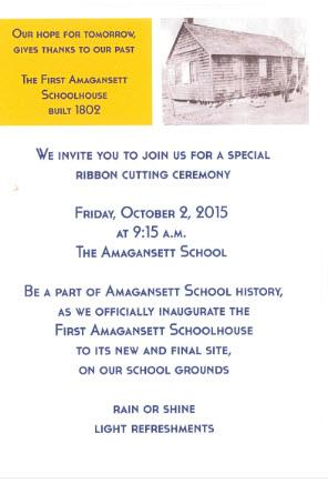 Schoolhouse Invitation